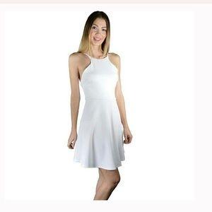 Open Back Fit N Flare Dress